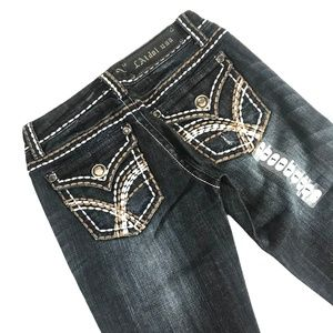 LA Idol Dark Wash Boot Cut JeansNWT for sale